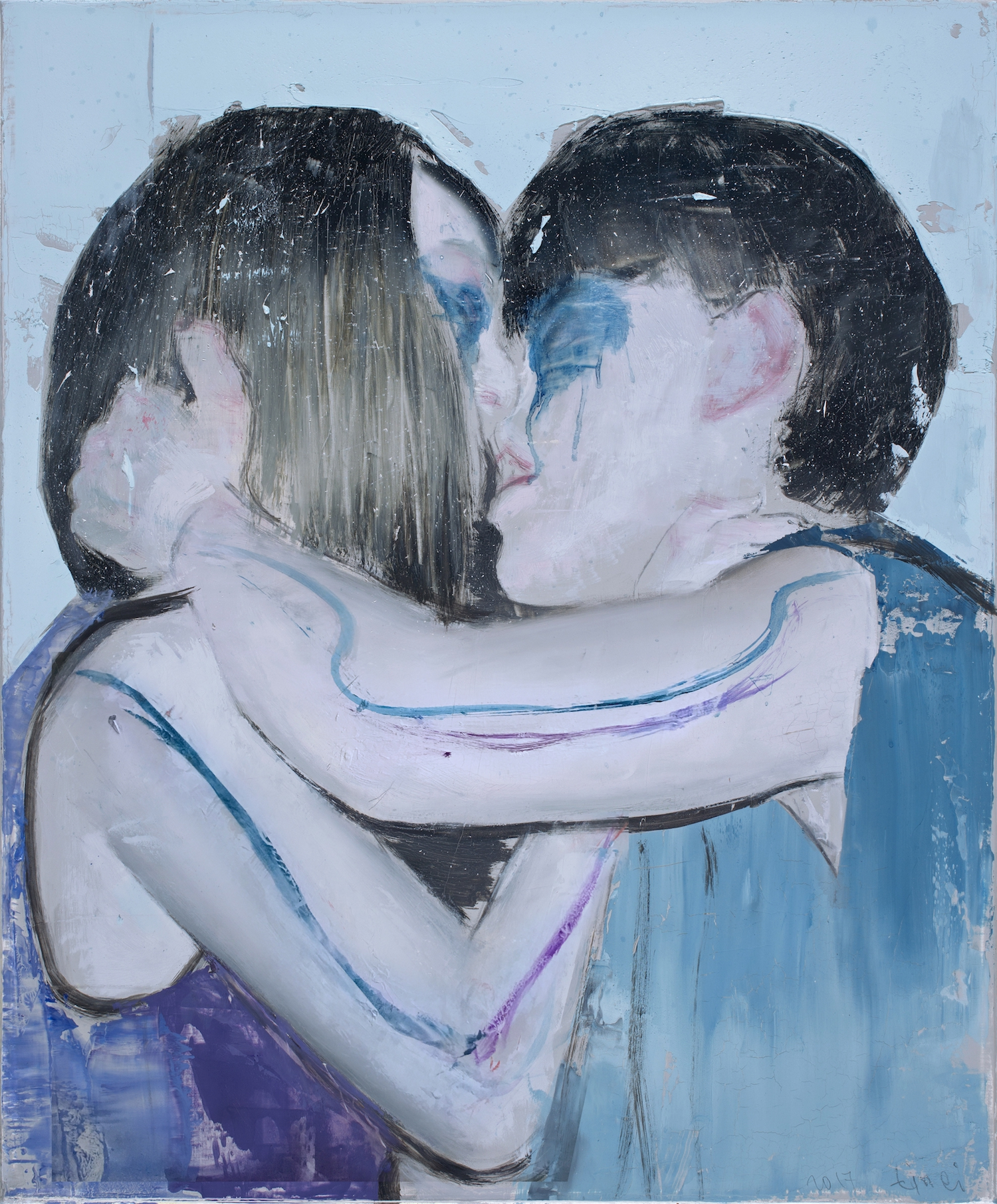 Kiss in blue